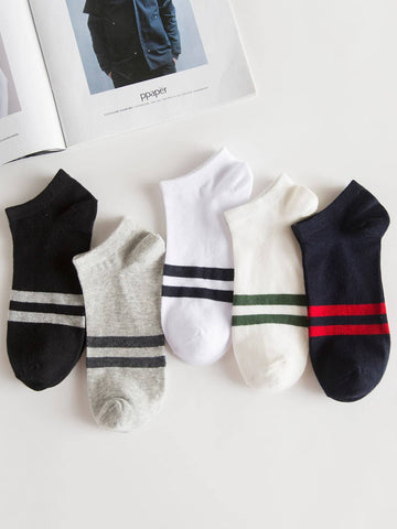 Men Striped Socks 5pairs | Amy's Cart Singapore
