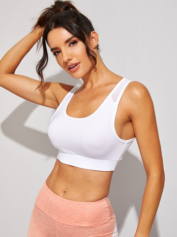 Contrast Mesh Sports Bra | Amy's Cart Singapore