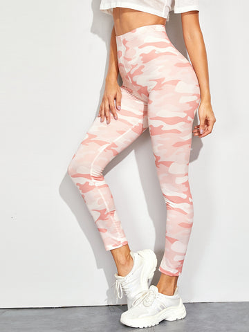 Camo Print Skinny Leggings | Amy's Cart Singapore