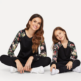 Mummy - Floral Raglan Sleeve Curved Hem Top | Amy's Cart Singapore