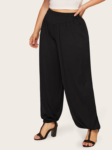 Plus Elastic Waist Pants | Amy's Cart Singapore