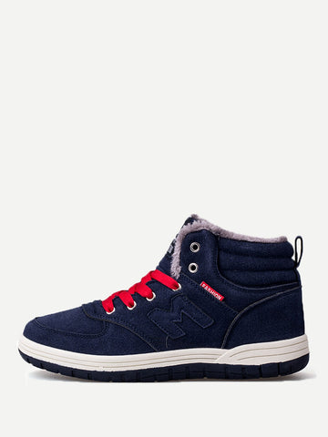 Men Lace Up Suede Sneakers | Amy's Cart Singapore