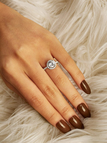 Rhinestone Engraved Ring 1pc | Amy's Cart Singapore