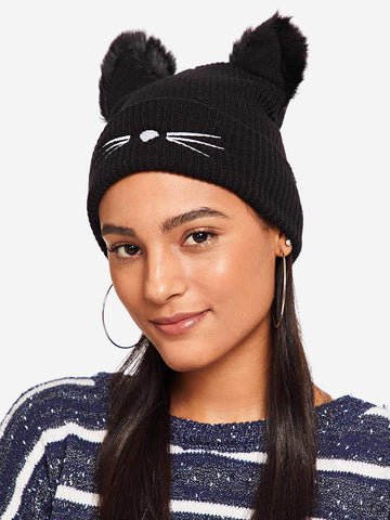 Pom Pom Ear Beanie Hat | Amy's Cart Singapore