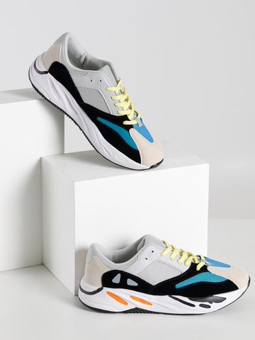 Men Color Block Mesh Panel Sneakers | Amy's Cart Singapore