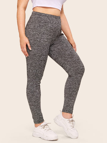 Plus Marled Grey Leggings | Amy's Cart Singapore