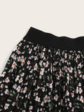Ditsy Floral Print Elastic Waist Skirt | Amy's Cart Singapore