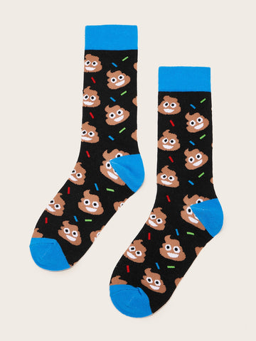 Men Cartoon Pattern Socks 1pair | Amy's Cart Singapore