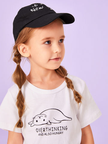Kids Slogan Embroidery Baseball cap | Amy's Cart Singapore