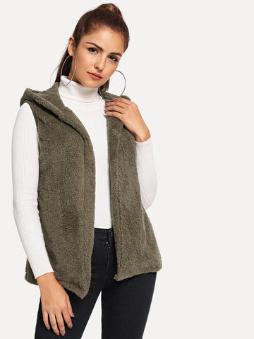 Teddy Hooded Vest | Amy's Cart Singapore