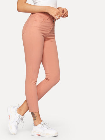Raw Hem Ankle Jeggings | Amy's Cart Singapore