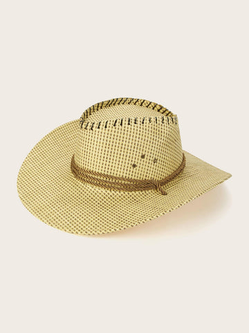 Men Rope Decor Fedora With Adjustable Chin Strap | Amy's Cart Singapore