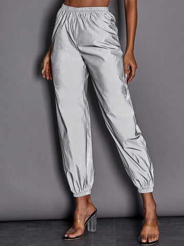 Elastic Waist Reflective Sweatpants | Amy's Cart Singapore