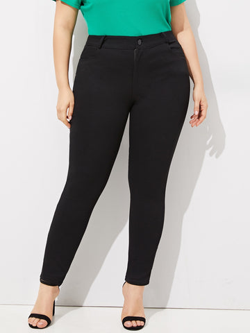 Plus Solid Skinny Jeans | Amy's Cart Singapore