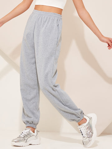 Elastic Waist Pocket Side Sweatpants | Amy's Cart Singapore