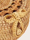 Braided Round Crossbody Bag | Amy's Cart Singapore