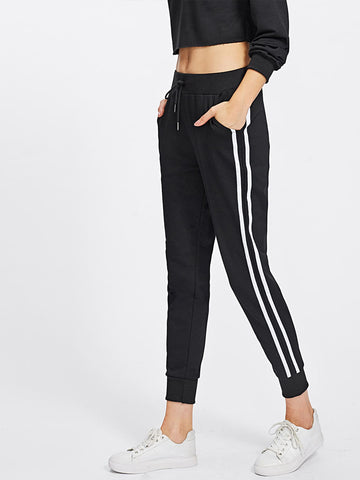 Stripe Tape Side Sweatpants | Amy's Cart Singapore