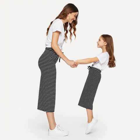 Mummy - Drawstring Waist Horizon Striped Skirt | Amy's Cart Singapore