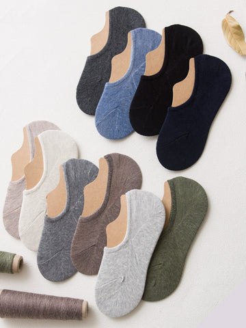 Men Random Color Plain Invisible Socks 5pairs | Amy's Cart Singapore