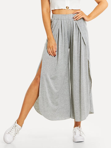 Elastic Waist Split Pants | Amy's Cart Singapore