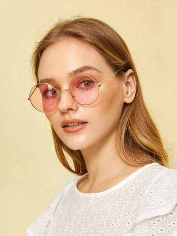 Round Frame Tinted Sunglasses | Amy's Cart Singapore