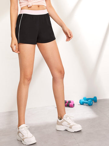 Contrast Waistband Track Shorts | Amy's Cart Singapore