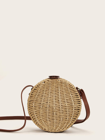 Braided Detail Round Crossbody Bag | Amy's Cart Singapore