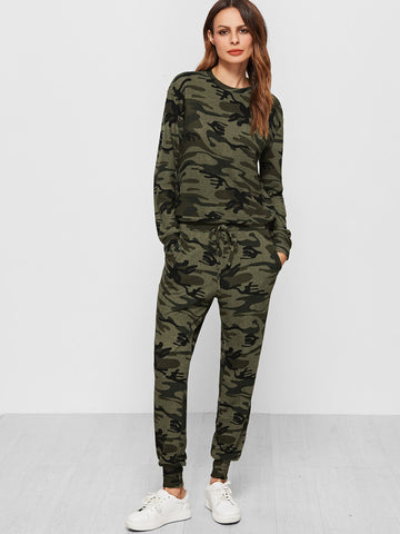 Camo Print Sweatsuit | Amy's Cart Singapore