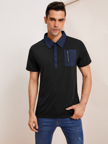 Men Zip Front Polo Shirt | Amy's Cart Singapore