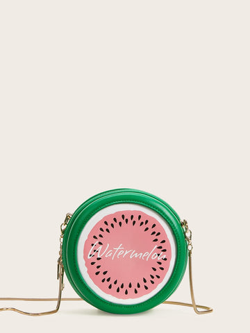 Watermelon Design Round Shaped Chain Bag | Amy's Cart Singapore