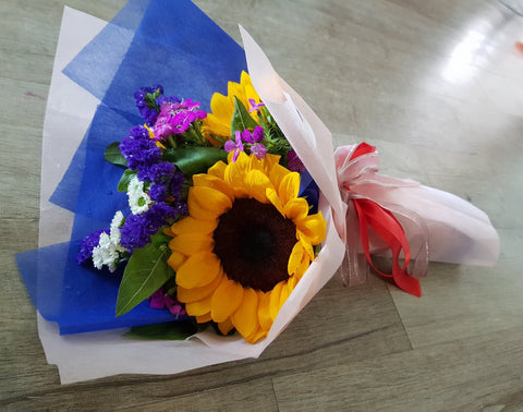 3 Stalk Sunflower Bouquet | Amy's Cart Singapore