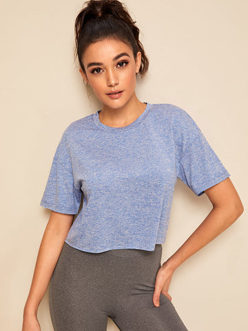 Drop Shoulder Marled Tee | Amy's Cart Singapore
