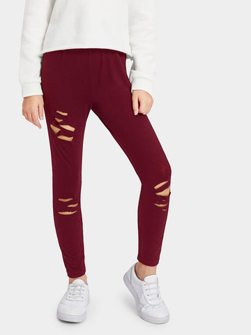 Girls Ripped Detail Leggings | Amy's Cart Singapore