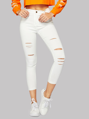 Ripped Skinny Jeans | Amy's Cart Singapore