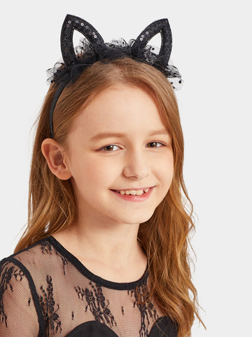 Toddler Girls Cat Ear Decorated Headband | Amy's Cart Singapore
