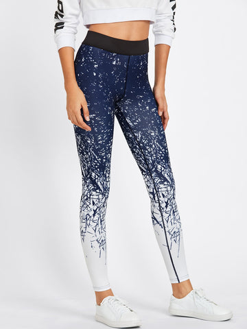 Abstract Print Gym Leggings | Amy's Cart Singapore