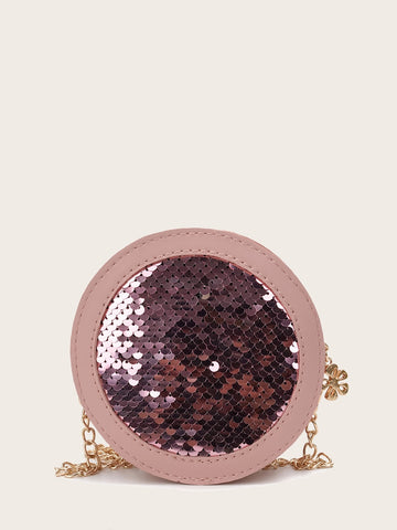 Kids Sequins Decor Round Shaped Bag | Amy's Cart Singapore
