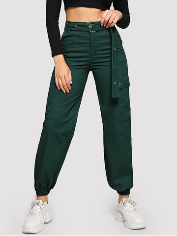 Self Tie Solid Utility Pants | Amy's Cart Singapore