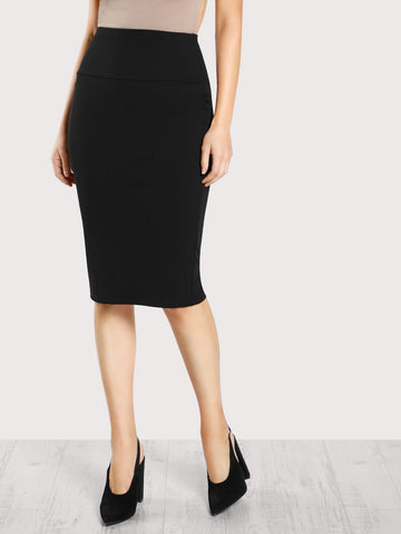 Elastic Waist Pencil Skirt | Amy's Cart Singapore