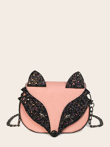Kids Glitter Fox Chain Bag | Amy's Cart Singapore