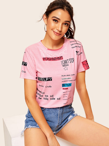 Letter Print Tee | Amy's Cart Singapore