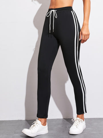 Tape Side Drawstring Waist Sweatpants | Amy's Cart Singapore