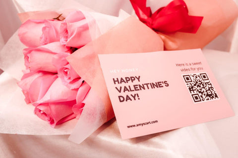 PINK ROSES - VALENTINE'S DAY BOUQUET & VIDEO MESSAGE CARD