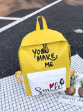 Kids Slogan Print Nylon Backpack | Amy's Cart Singapore