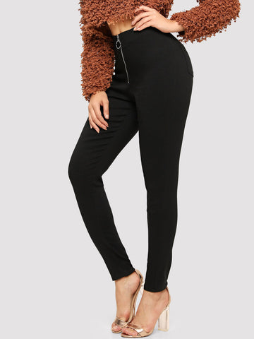Zip-up Pocket Detail Jeggings | Amy's Cart Singapore