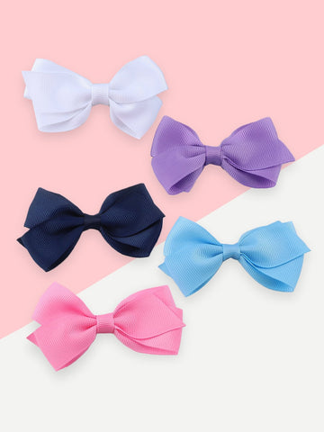 Girls Bow Hair Clip 5pcs | Amy's Cart Singapore