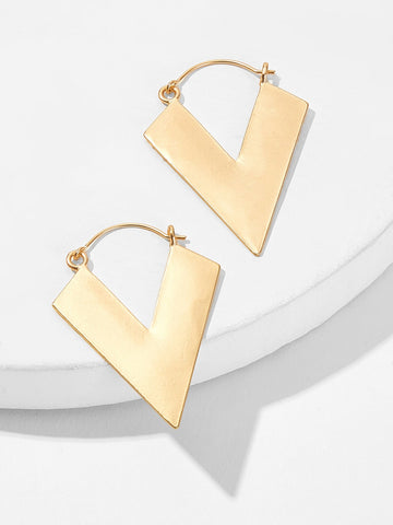 Triangle Shaped Drop Earrings 1pair | Amy's Cart Singapore