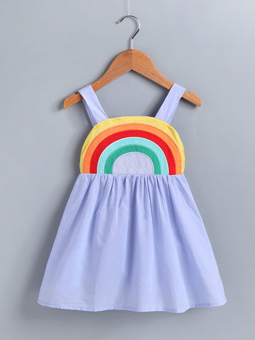 Toddler Girls Rainbow Stripe Cami Dress | Amy's Cart Singapore