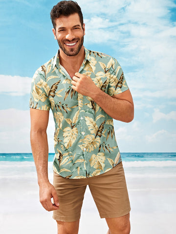 Men Tropical Print Shirt | Amy's Cart Singapore