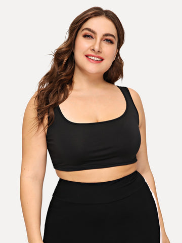 Plus Solid Sports Bra | Amy's Cart Singapore